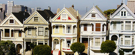 The painted ladies of Alamo Square, San Francisco, courtesy of Sue