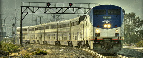 Amtrak Arriving at Palm Springs, courtesy of  Allen Rockwell