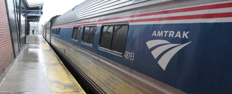 Our AmTrak train from Albany to Boston