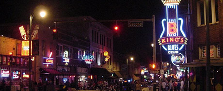 Neon Lights on Beale Street, courtesy of cordan
