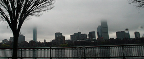 A rainy day in Boston