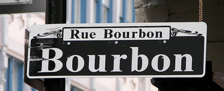 Street sign in Bourbon Street, courtesy of Neil Cooler