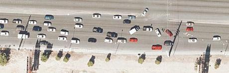 Car crash(?) in Las Vegas
