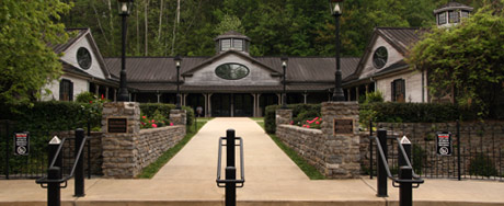 The main entrance of the Jack Daniel's Distillery