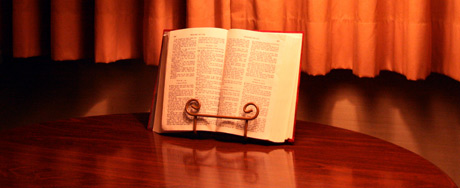 Bible in our room at the Bird-in-hand motel room