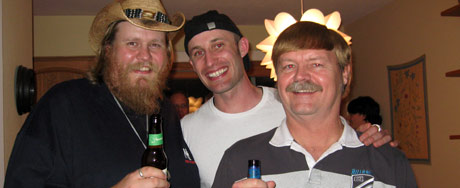 Louis, Tim and Jason at the party