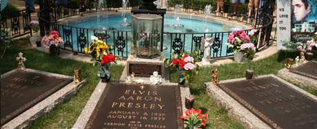 The grave of Elvis Presley