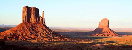 West meets East (mitten that is) - Photo of Monument Valley, courtesy of Mike Pedroncelli