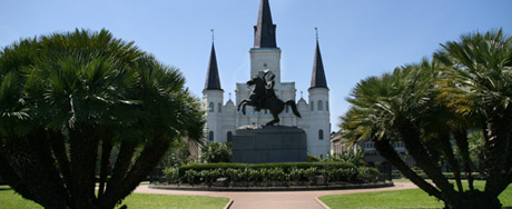 Saint Louis Cathedral and the Jackson Square