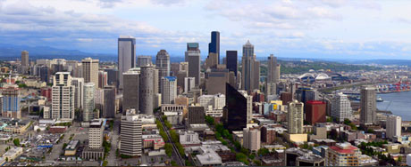 Seattle from the Space Needle, courtesy of Viton