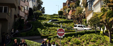 Lombard Street - the crookedest street in San Francisco