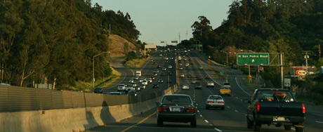 Traffic on the way to San Francisco