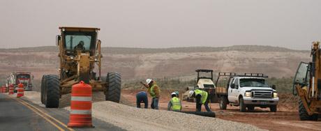 Road work in Utah